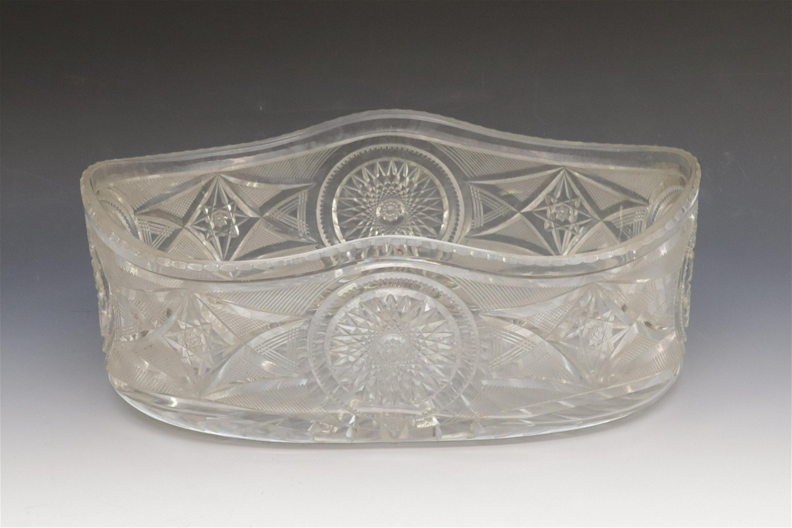 LARGE CUT GLASS CENTER BOWL