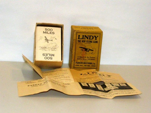 22: LINDY FLYING GAME - PARKER BROTHERS, IN C. WITH INS
