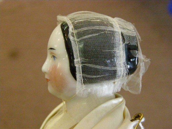 """296: 11"""" CHINA HEAD DOLL - 5"""