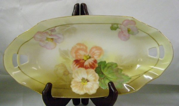 "7: 11"" R.S GERMANY FLORAL TRAY"