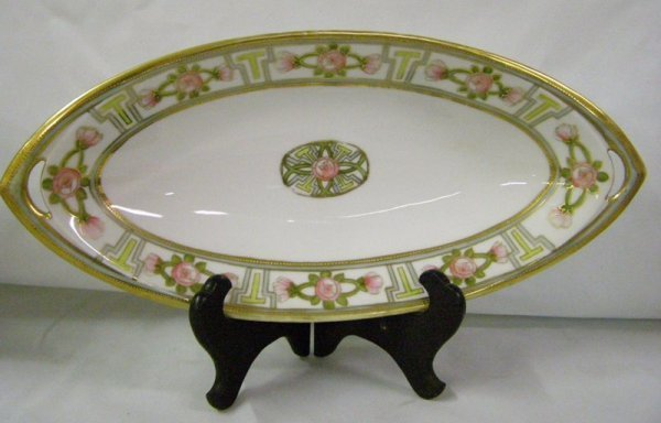 "8: 13"" HAND PAINTED NIPPON TRAY"