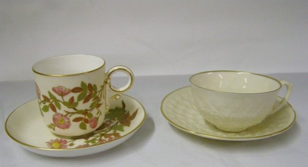 12: ROYAL WORCHESTER CUP & SAUCER LENOX CUP & SAUCER