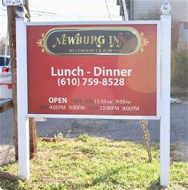 DOUBLE SIDED EXTERIOR SIGN