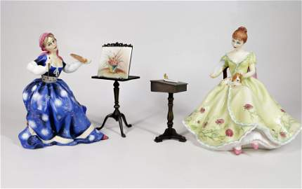 PAIR OF ROYAL DOULTON PORCELAIN FIGURES