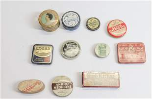 GROUP LOT OF ADVERTISING TINS