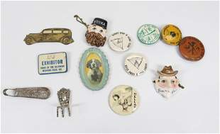 GROUP LOT OF PINS AND ADVERTISING ITEMS