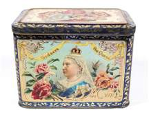 """""""GOD SAVE THE QUEEN"""" LITHOGRAPH TIN"""