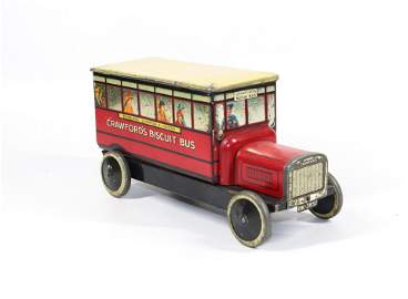 CRAWFORDS BISCUIT BUS LITHOGRAPH TIN