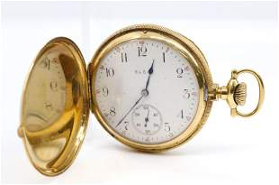 ELGIN CLOSED FACE GOLD POCKET WATCH