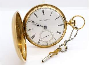TREMONT WATCH CO. BOSTON GOLD POCKET WATCH