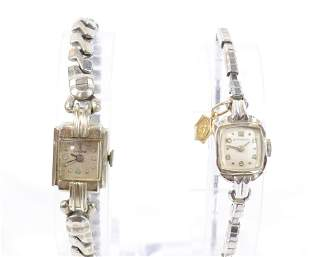 PAIR OF 14KT. GOLD LADIES WATCHES