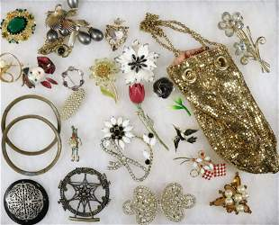 COSTUME AND VINTAGE JEWELRY LOT