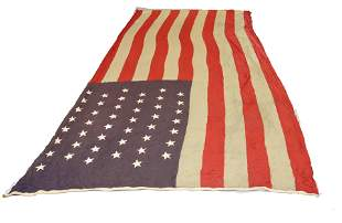 VINTAGE 45-STAR AMERICAN FLAG