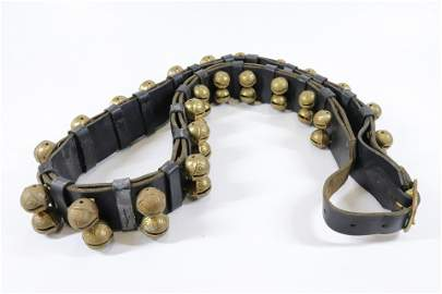 DOUBLE STRAP OF BRASS SLEIGH BELLS