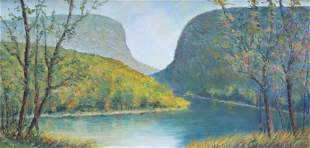 VINTAGE OIL ON BOARD BY SHORTY WIDMER