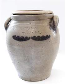 Early 19th century stoneware jar