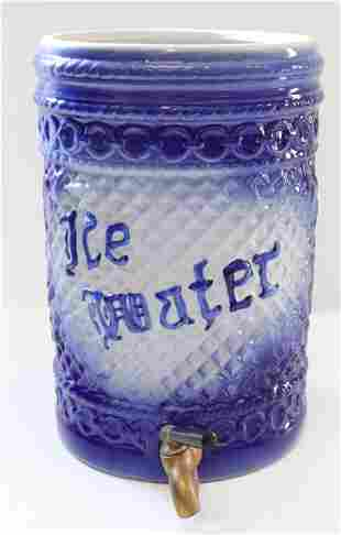 Salt glaze ice water dispenser