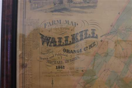 19th century orange county new york farm map