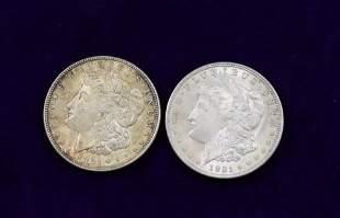(2) 1921 MORGAN SILVER DOLLARS