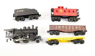 """LIONEL 8300 STEAM ENGINE """"O"""" GAUGE WITH CARS"""