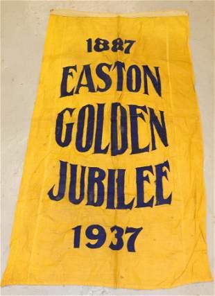 1937 EASTON, PA BANNER