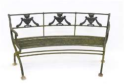 REGENCY CAST IRON GARDEN BENCH