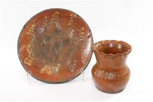 EARLY REDWARE LOT