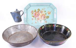 GROUP LOT OF EARLY TINWARE