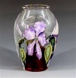 DANIEL LOTTON DOUBLE WELL  PAPERWEIGHT VASE