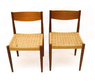 PAIR OF POUL VOLTHER FOR FREM ROJLE DANISH TEAK CHAIRS