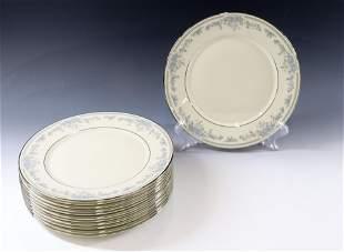 (12) LENOX REVERIE DINNER PLATES