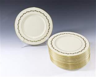 (13) LENOX GOLDEN WREATH SALAD PLATES