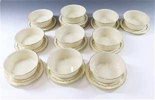 LENOX GOLDEN WREATH BREAD PLATES AND BOWLS