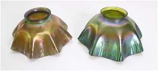 PR. OF LOUIS COMFORT TIFFANY ART GLASS SHADES