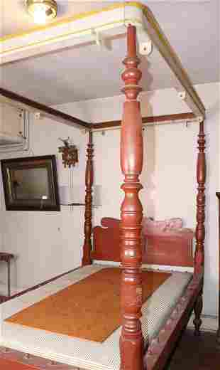 19TH C. CANOPY ROPE BED