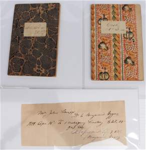 (3) 19TH C. BETHLEHEM HISTORICAL PAPER ITEMS