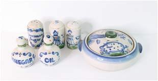 GROUP OF M.A. HADLEY POTTERY