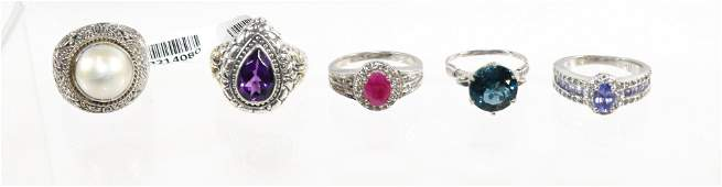 CONTEMPORARY STERLING SILVER JEWELRY GROUP