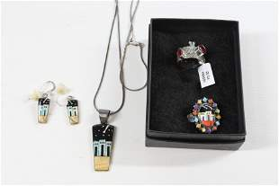CONTEMPORARY STERLING SILVER JEWELRY LOT