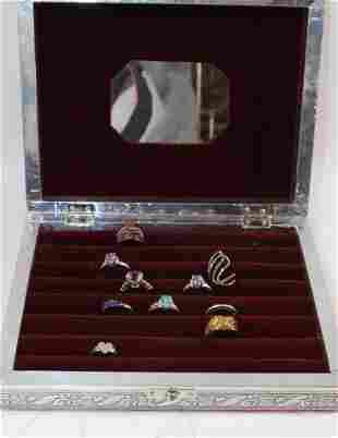 CONTEMPORARY COSTUME JEWELRY LOT AND BOX