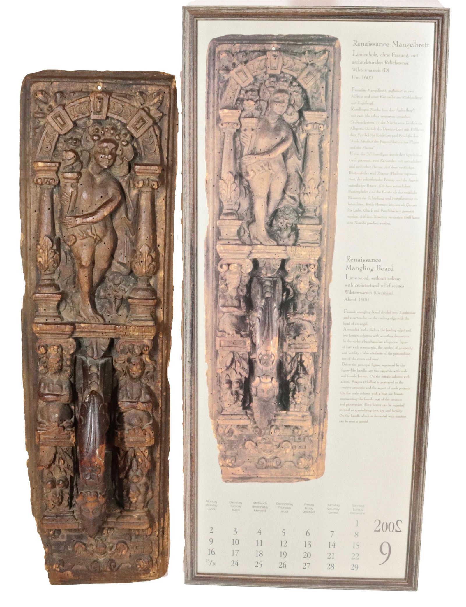 Fine Example of an 17th Century German Mangle Board