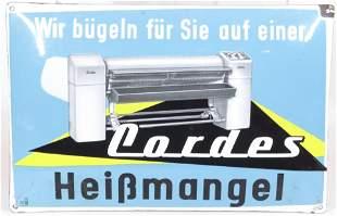 Porcelain and Enamel German Advertising Sign
