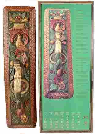 Fine 18th Century German Mangle Board