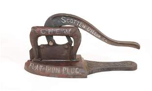 Cast Iron Advertising Tobacco Cutter