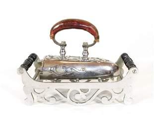 Nickel Plated German Oxtongue Iron