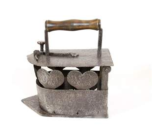 19th Century French Charcoal Iron