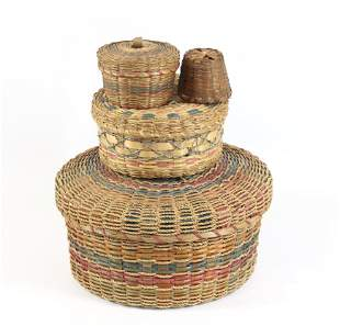 GROUP LOT OF SEWING BASKETS