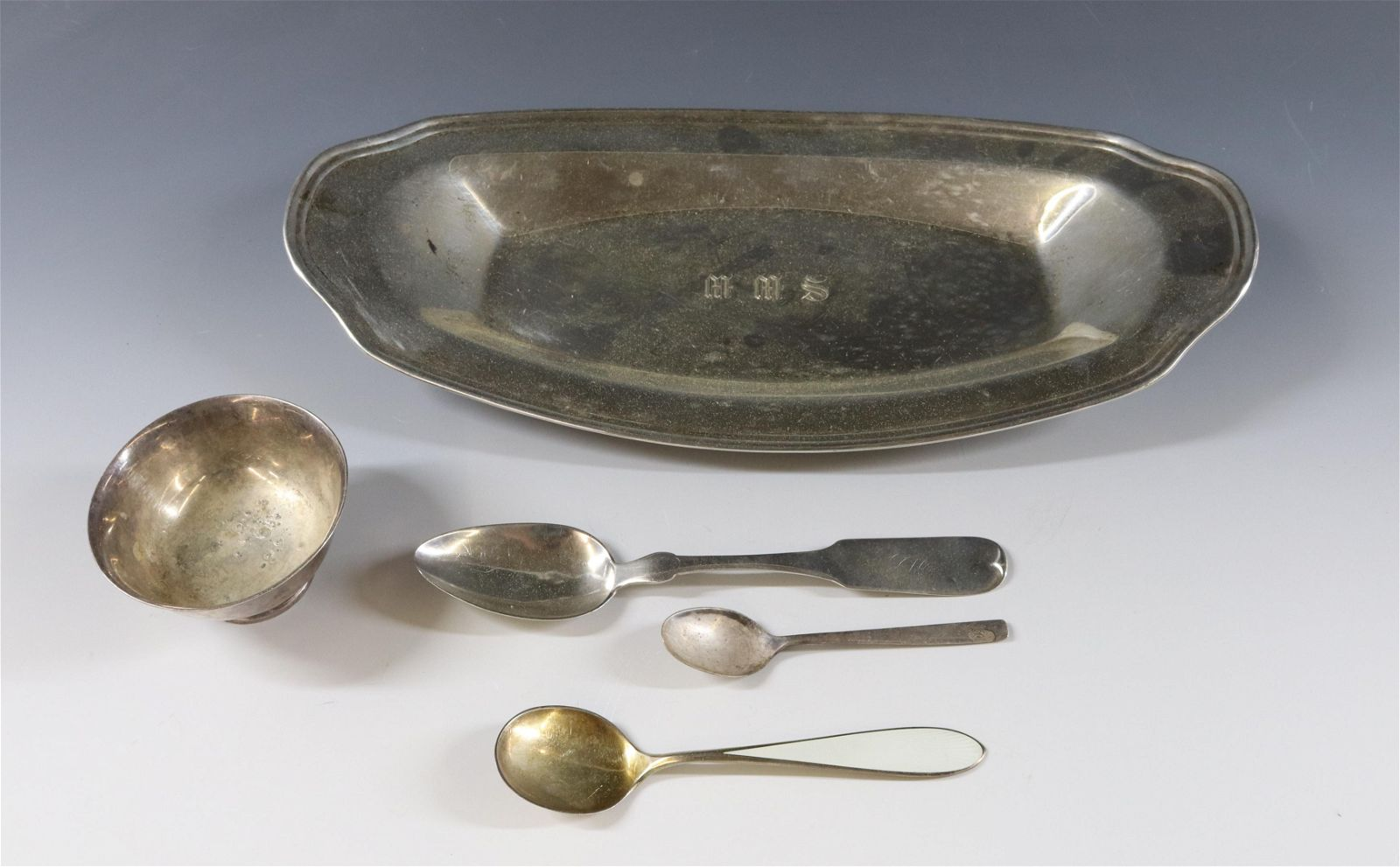 STERLING SILVER TRAY AND SPOONS