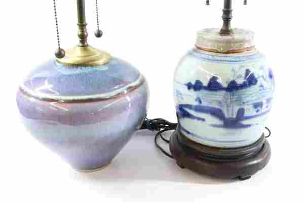 BILL CAMPBELL LAMP WITH ASIAN LAM
