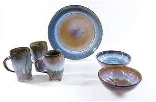 GROUP LOT OF BILL CAMPBELL POTTERY